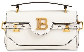 Balmain Bbuzz Baguette 26 Leather Shoulder Bag