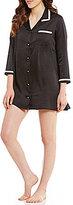 Kate Spade Satin Notch-Collar Sleepshirt