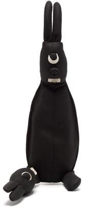 Rick Owens Siamese Bunny Mini Suede Cross-body Bag - Womens - Black