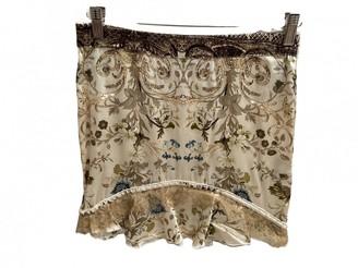 Roberto Cavalli Beige Silk Skirt for Women