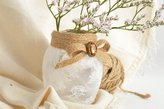 MadeHeart | Buy handmade goods Beautiful White Handmade Designer Glass Flower Vase Trimmed With Lace