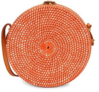 Koret Rattan Circle Shoulder Bag