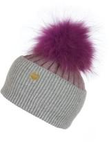 Popski London Angora Pom Pom Hat - Thistle-whisper Grey