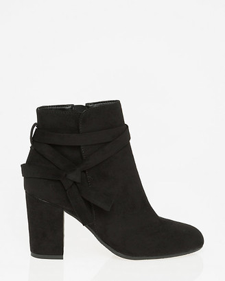 Le Château Faux Suede Round Toe Ankle Boot