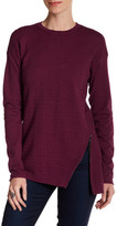 Cullen Quilted Asymmetric Crewneck Pullover