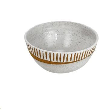 Natan Moss Ceramics White Marfa Medium Serving Bowl