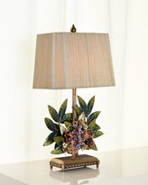 Jay Strongwater Bouquet & Leaf Lamp
