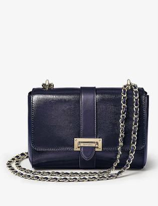 Aspinal of London Lottie small lizard-embossed leather shoulder bag