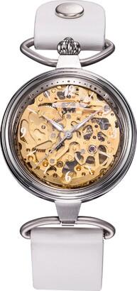 Zeppelin Ladies Watch Princess Automatic Skeleton Watch Gold 7457-5