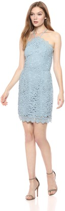 J.o.a. Women's LACE Halter Fitted Sheath Mini Dress