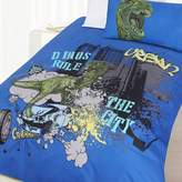 Happy Kids Dino City Glow in the Dark Quilt Cover Set
