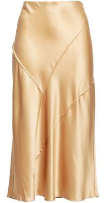 Vince Silk-satin Midi Skirt