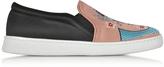 Joshua Sanders Dragon Multicolor Fabric Slip-on Sneaker