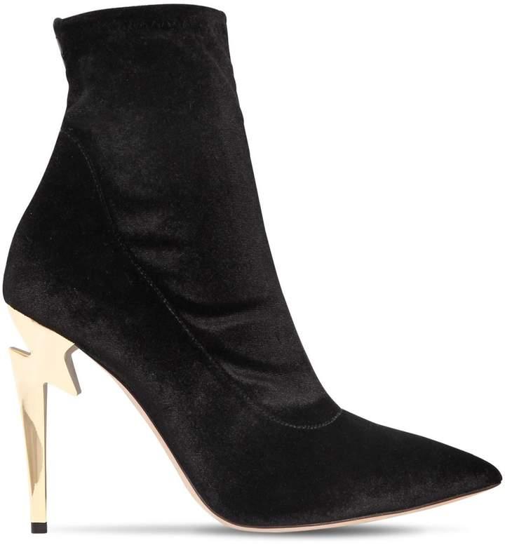 Giuseppe Zanotti Design 105mm Stretch Velvet Ankle Boots