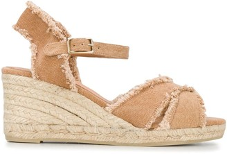 Castaner Bromelia frayed-trimmed wedge sandals