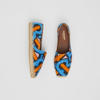 Burberry Monogram Print Cotton Canvas Espadrilles