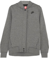 Nike Tech Fleece Destroyer Perforated Cotton-blend Jersey Jacket - Gray