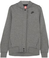 Nike Tech Fleece Destroyer Perforated Cotton-blend Jersey Jacket - Gray