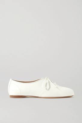 Gabriela Hearst Maya Leather Lace-up Ballet Flats - Ivory