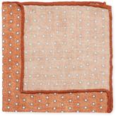 Brunello Cucinelli Dots Print Wool Pocket Square