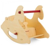 Hippy Chick Hippychick Natural Wood Rocking Horse