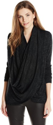 Olive + Oak Olive & Oak Women's Double Cowl Cardigan