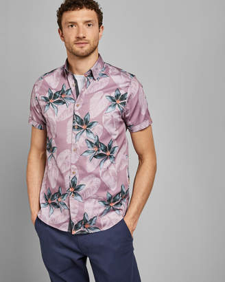 Ted Baker MYLES Floral print cotton shirt