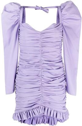 Giuseppe di Morabito Puff-Sleeved Draped Short Dress