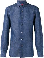 Isaia classic shirt - men - Linen/Flax - 39