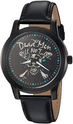 Disney Men's Pirates Analog-Quartz Watch with Leather-Synthetic Strap