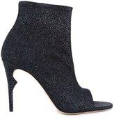 Jerome Rousseau 'Clothilde' peep toe boots - women - Calf Leather/Goat Skin/Goat Suede - 37