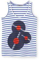 Petit Bateau Womens striped tank top with front motif