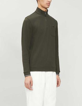 Ted Baker Funnel-neck cotton-blend jumper