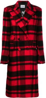 Brognano Checked Double-Breasted Coat