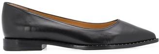 J&M Davidson Stud-Embellished Pointed Toe Loafers