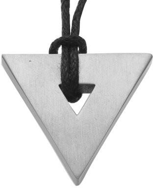 Star Trek Unisex Titanium Pendant with Black Cord Necklace