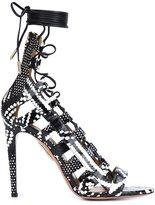 Aquazzura 'Amazon' sandals - women - Leather/Snake Skin - 39.5