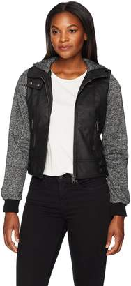 Melange Home Jason Maxwell Womens Outerwear Women's Moto Jacket with Sleeves