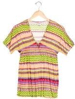 Milly Minis Girls' Printed Kimono Top