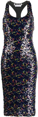 Rotate by Birger Christensen Sequin-Embroidered Fitted Dress