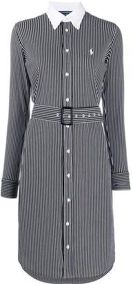 Polo Ralph Lauren Vertical-Stripe Shirt Dress