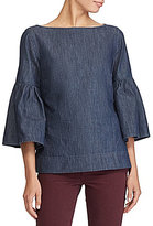 Lauren Ralph Lauren Denim Bell-Sleeve Shirt