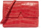 Vince Croc-effect leather shoulder bag