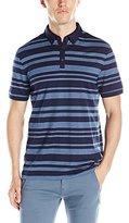 Calvin Klein Men's Jacquard Auto Stripe Short Sleeve Polo Shirt