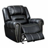 Asstd National Brand Bismarck Contemporary Faux Leather Pad-Arm Chair