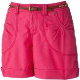 Apt. 9 cuffed linen blend shorts