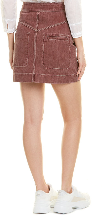 Thumbnail for your product : Isabel Marant Denim Mini Skirt
