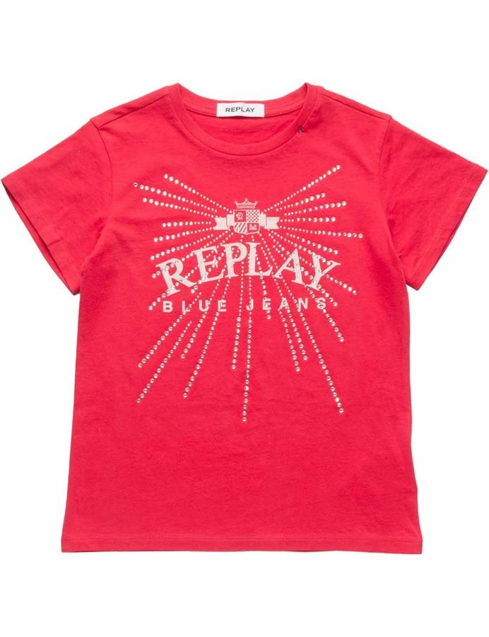 Replay Girl's Sg7479.051.20994 T-Shirt