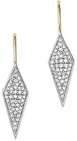 Adina Sterling Silver & 14K Yellow Gold Long Pave Diamond Earrings