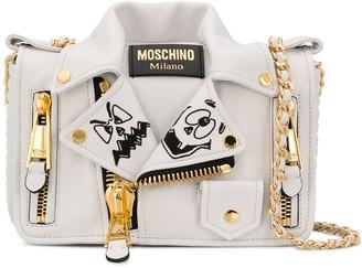 Moschino two-tone Biker shoulder bag